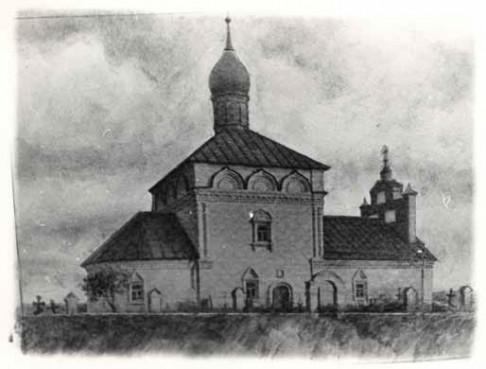 Пятницкий храм. Реконструкция С.В.Чугунова. 1969 г.