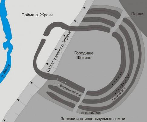 38 - план Жокинского городища