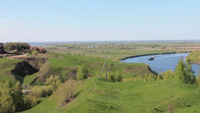 Луховицкий район - вид на Перевицкий Торжок и Белоомутский шлюз