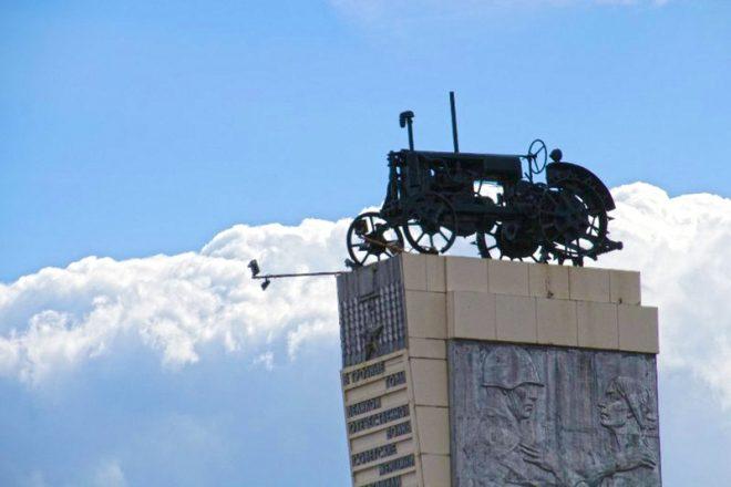Трактор Дарьи Гармаш. Фото